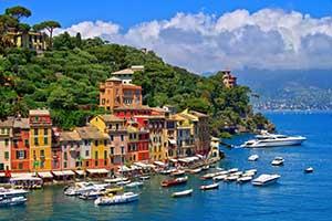Portofino i Ligurien