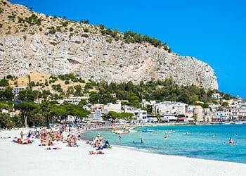 sandstrand på sicilien