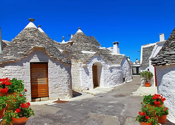 Trulli husene i Alberobello