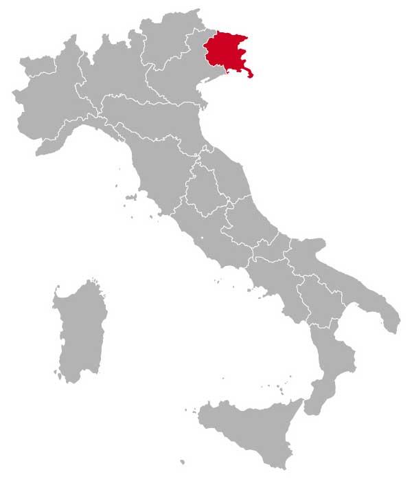 Her ligger Friuli-Venezia Giulia