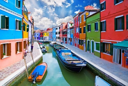 Burano i Venedig