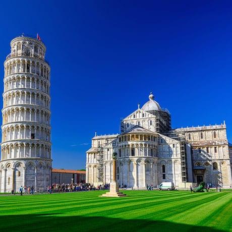 Det Skæve tårn i Pisa - Piazza dei Miracoli