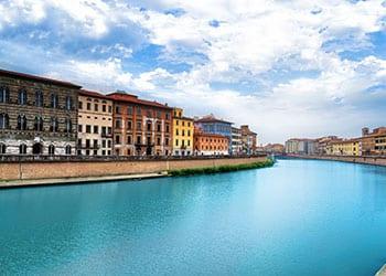 Arnofloden i Pisa - Italien