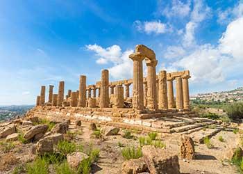 besøg templer på feriee i agrigento