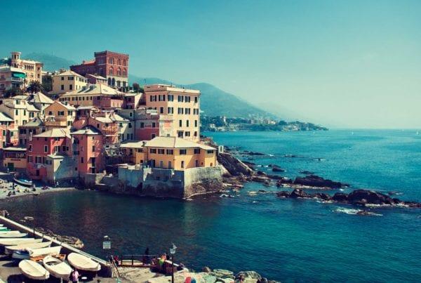 Genova på den Italienske riviera