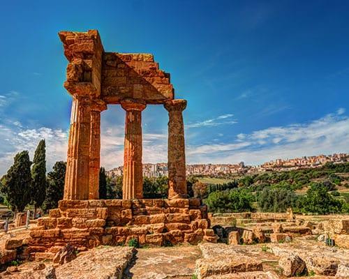 Agrigento på Sicilien