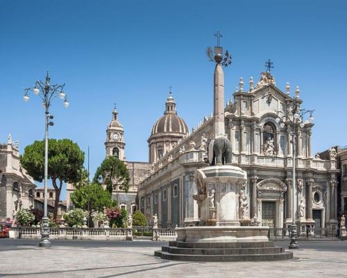 Catania på Sicilien