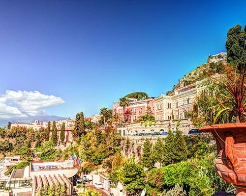 Taormina på Sicilien