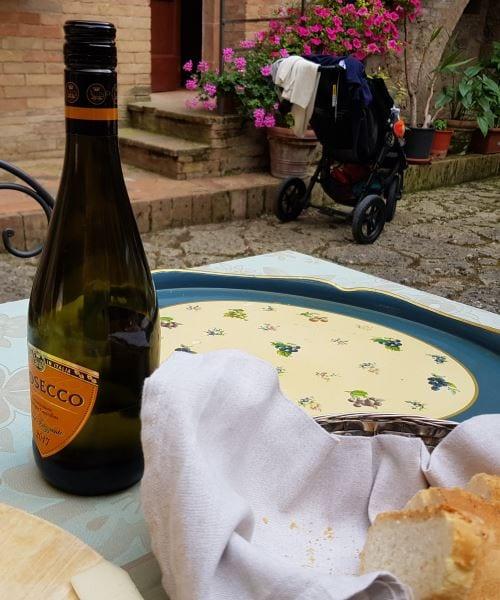 aftensmad på tenuta di corsano